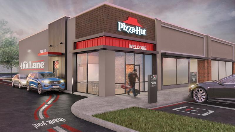 Pizza Hut drive-thru