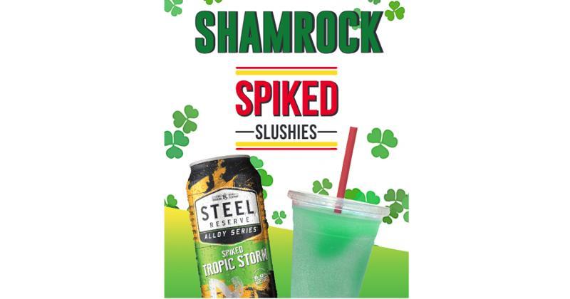 Rutter's Shamrock Spiked Slushies