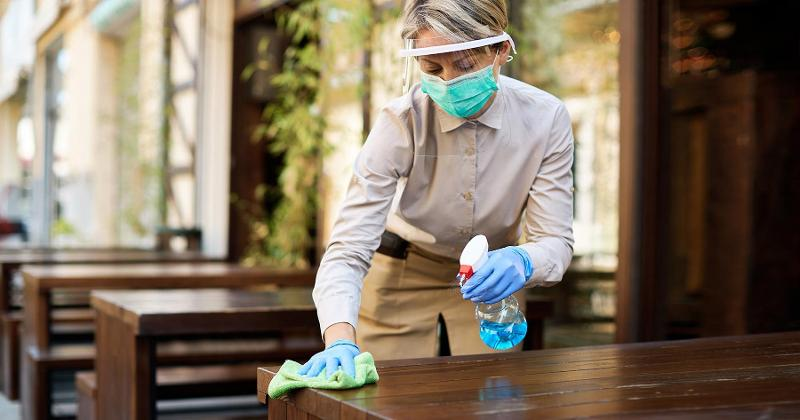 Sanitizing table