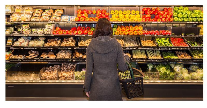 Grocery produce aisle