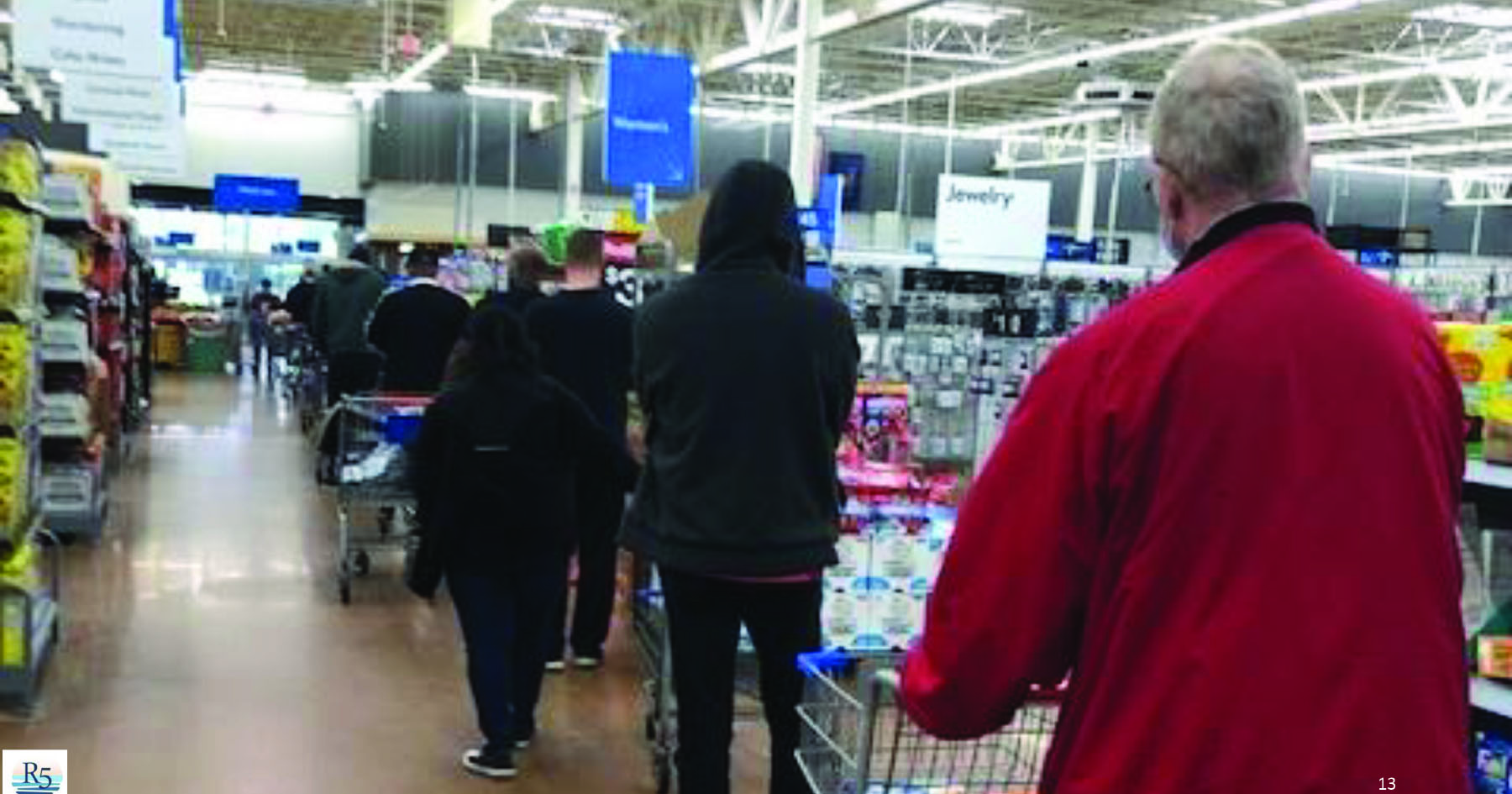 Checkout line in Walmart Supercenter store in Pennsylvania, March 25, 2021