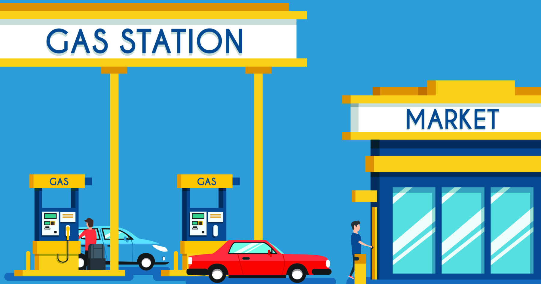 Gas Station Graphic
