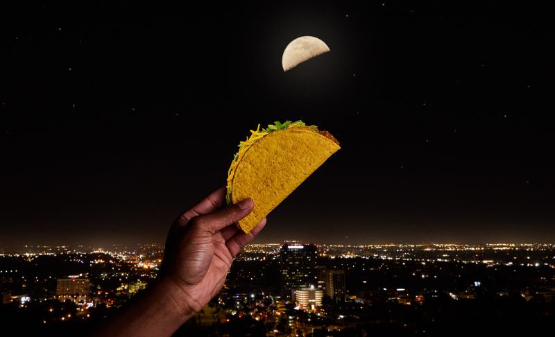 Taco Bell taco moon
