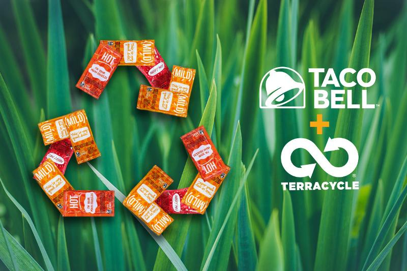 Taco Bell recycling hot sauce