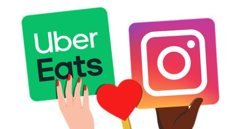 Uber Eats and Instagram logos