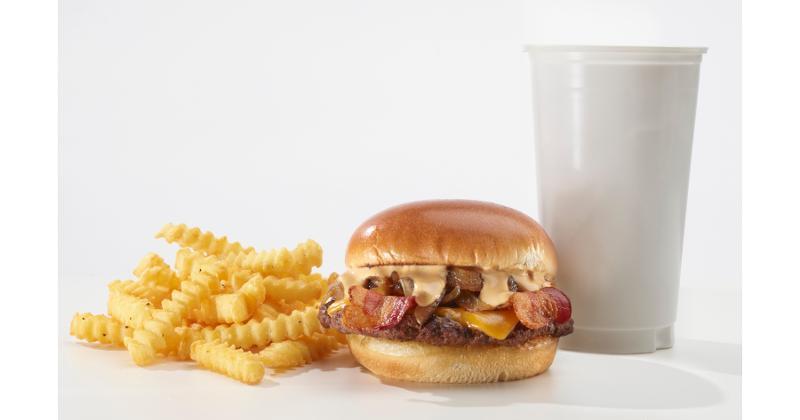 Burger Experience bacon Swiss burger