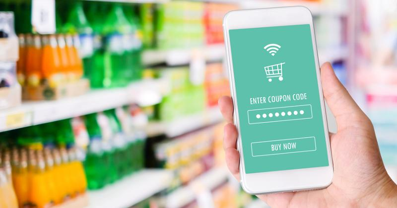 Digital grocery coupon