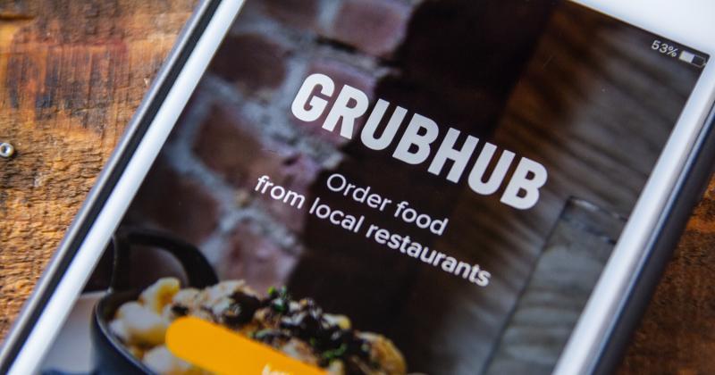 Grubhub app home screen