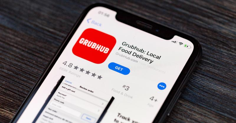 Grubhub app on phone screen