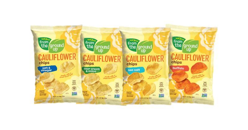 Cauliflower Chips and Cauliflower Snacking Crackers