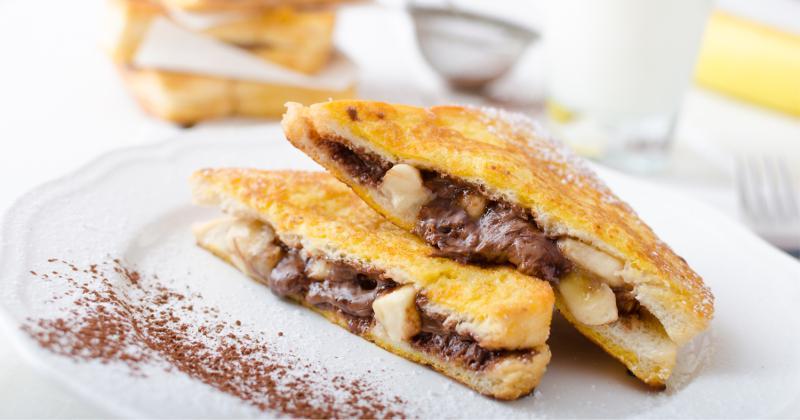 Chocolate and banana French toast