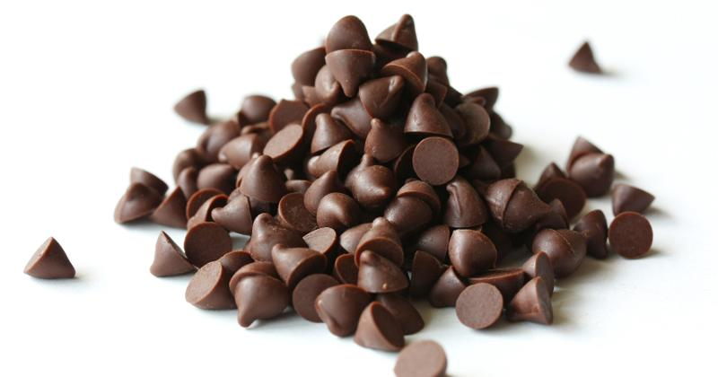 A pile of chocolate chips.