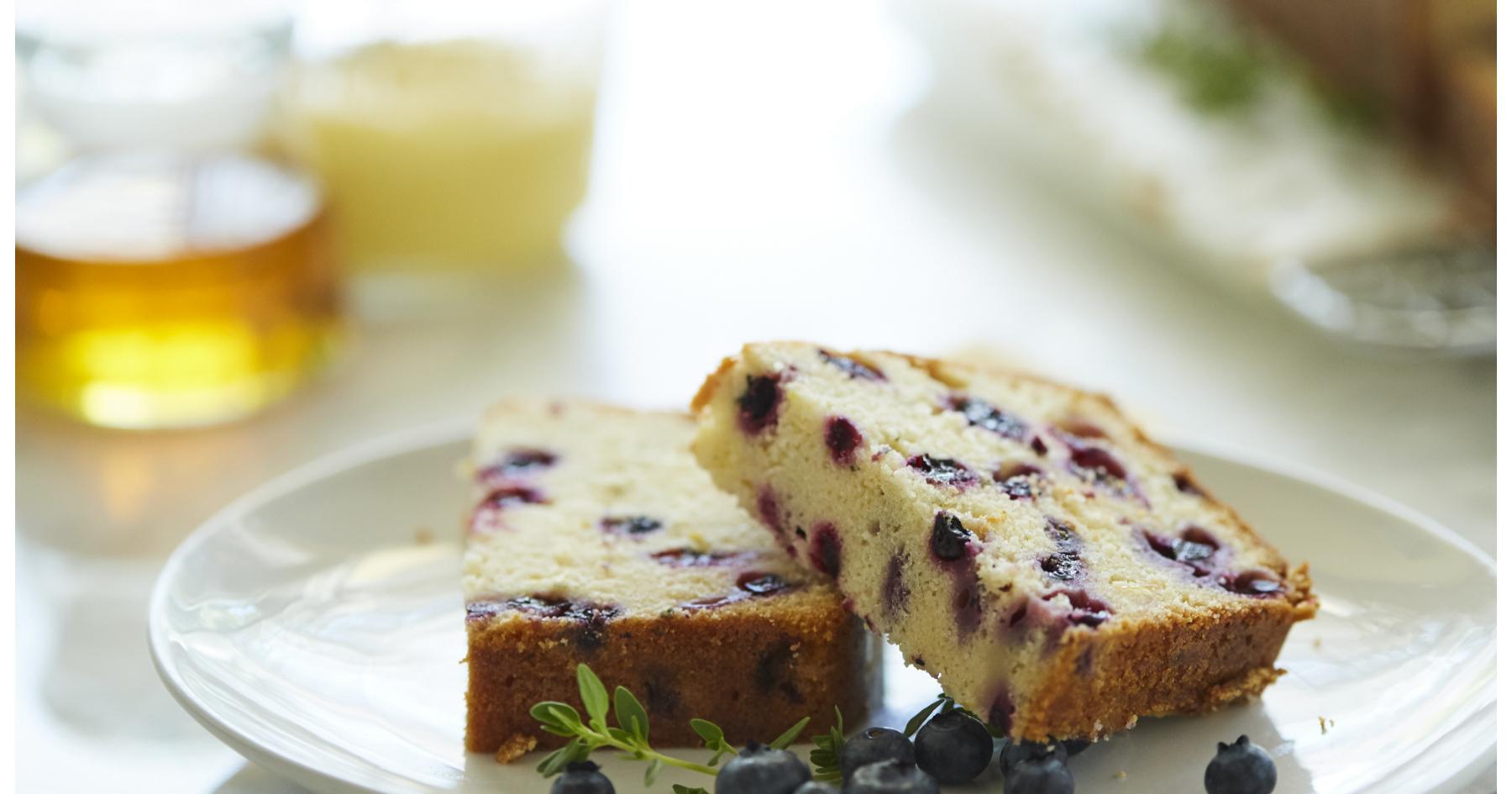 Honey Lemon Blueberry Cake
