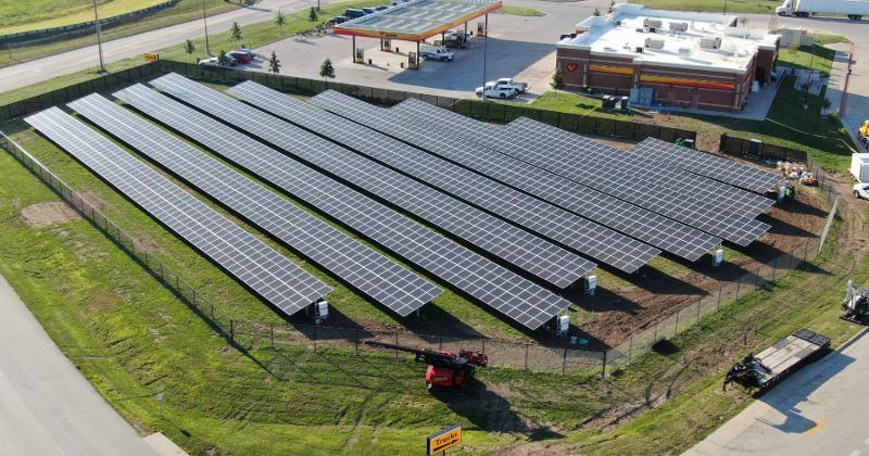 convenience store solar panels