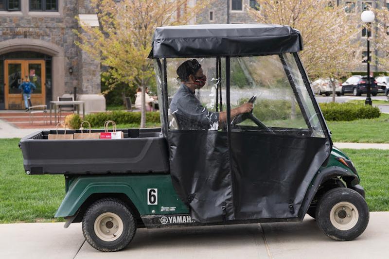 Marist golf cart