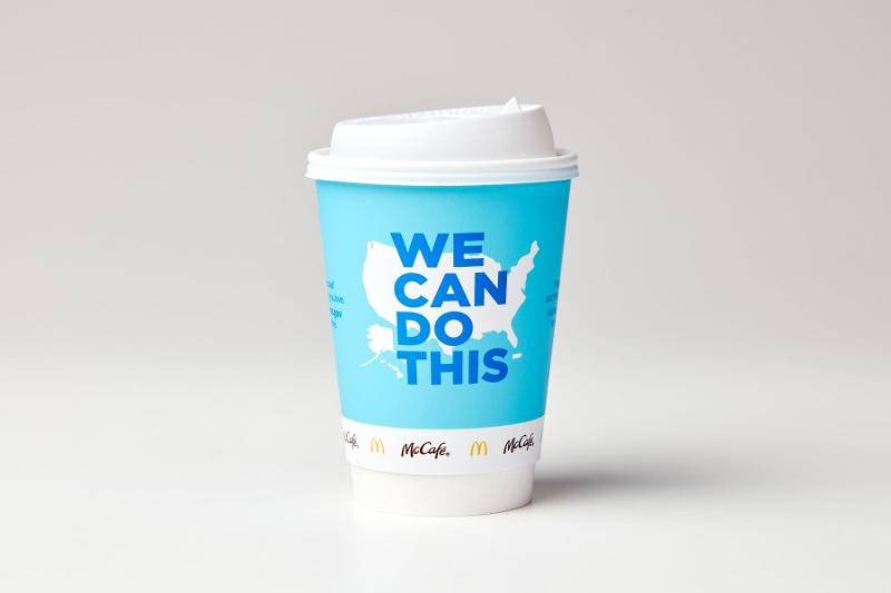 McDonald's vaccination coffee cup