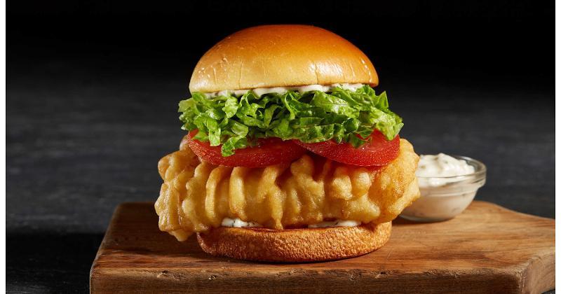 Arthur Treacher's fish sandwich