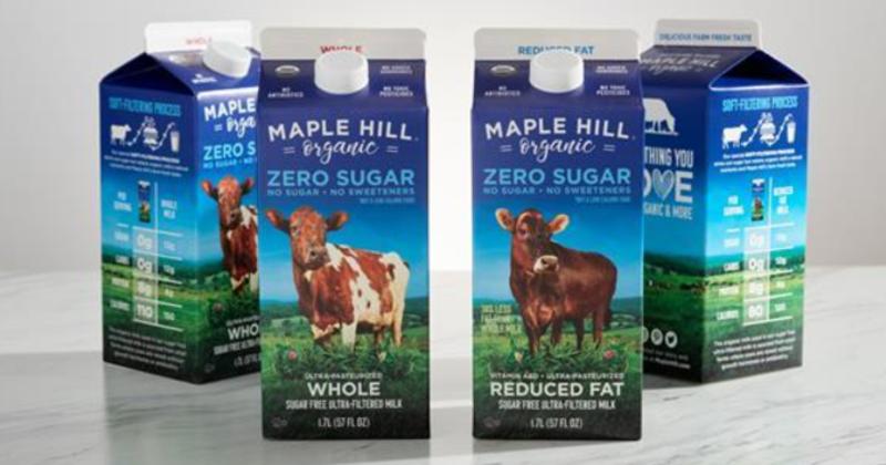 Maple Hill zero-sugar milk