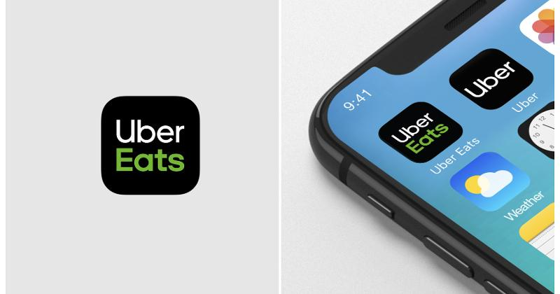 Uber Eats logo and app