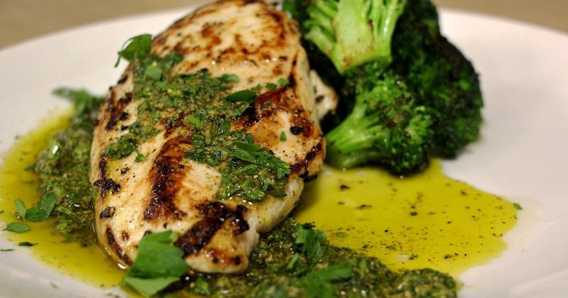 Chimichurri grilled chicken