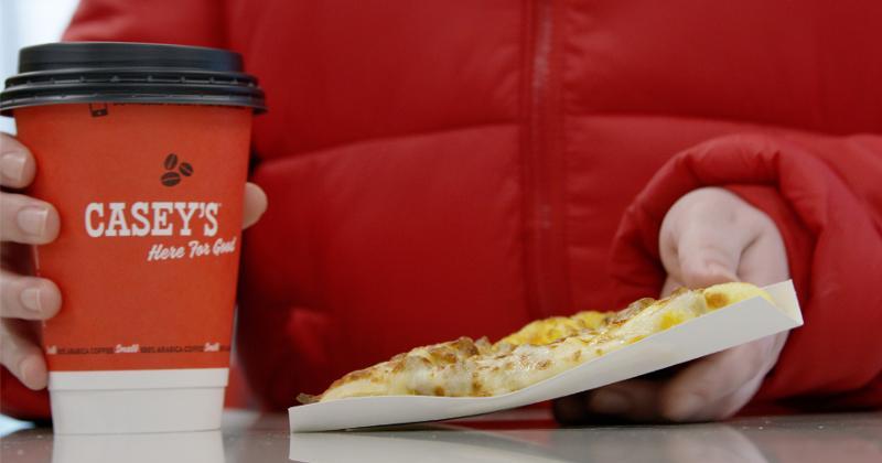 casey's coffee pizza