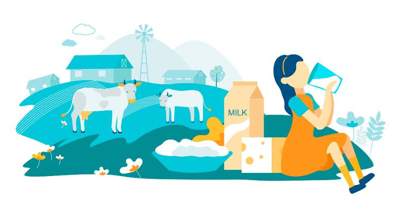 Dairy products vs. plant-based milks
