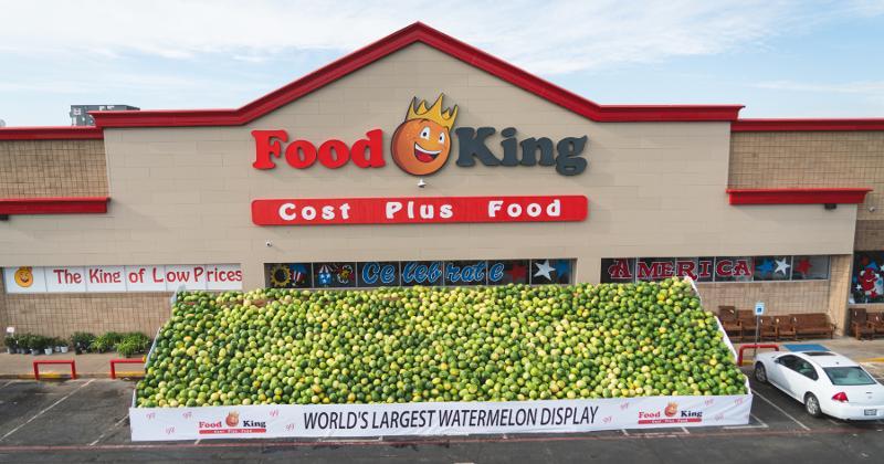Food King watermelon display