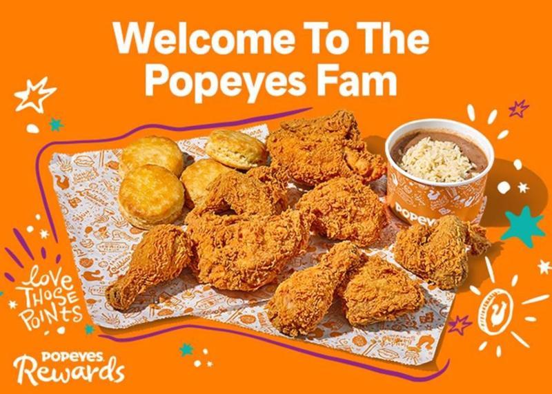 Popeyes Rewards loyalty program