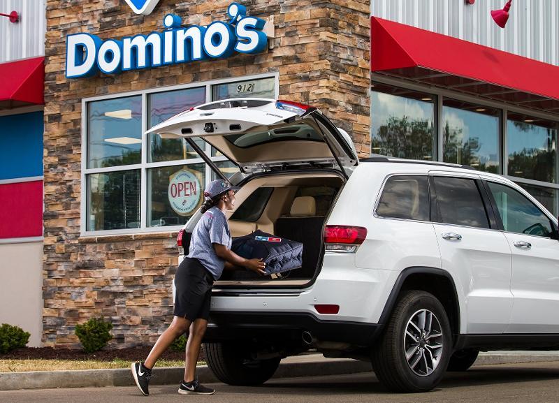 Domino's Pizza carside delivery