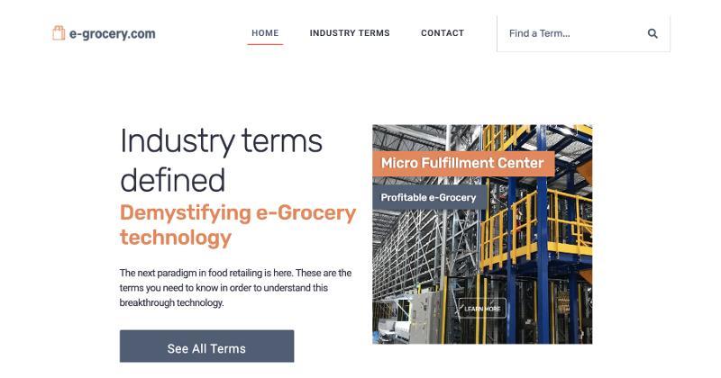 e-grocery.com screenshot