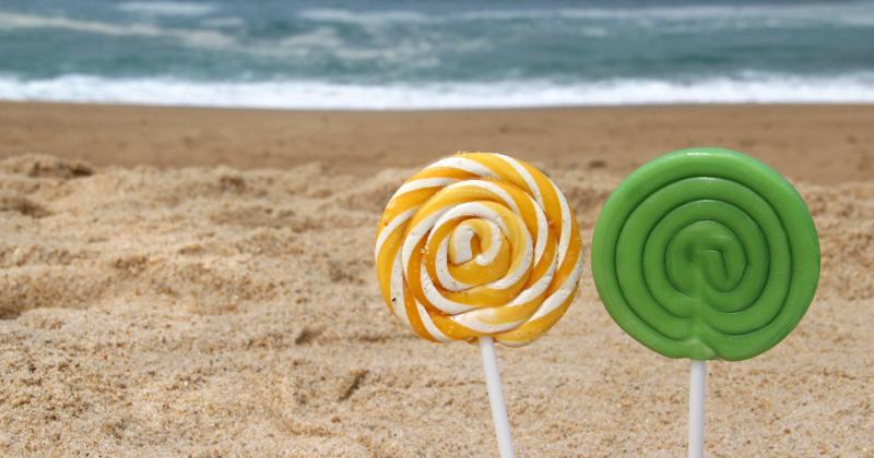 Candy at the beach