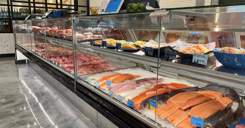 Dom's meat and seafood counter