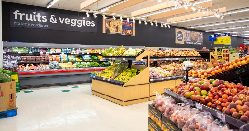 Save A Lot renovated produce department