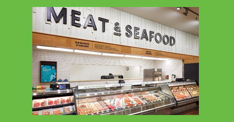 Meat and seafood department, O-N-E Market