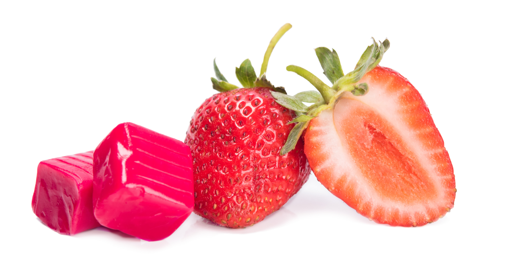 Strawberry-flavored candy