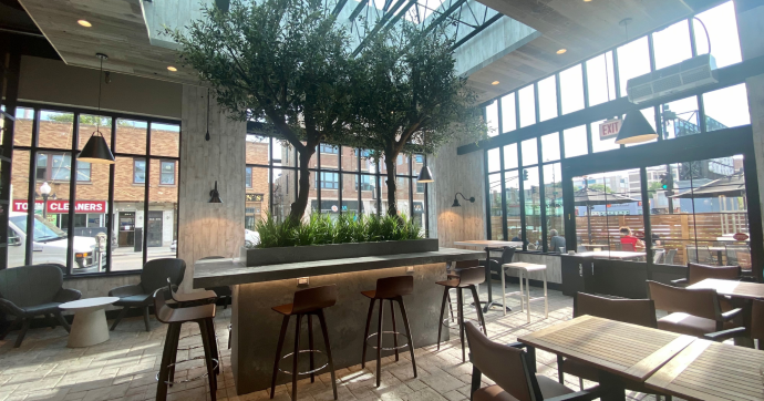 Dom's Kitchen & Market interior seating