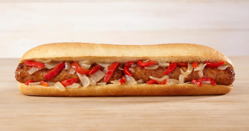 QuickChek's hot sausage, pepper and onion sub