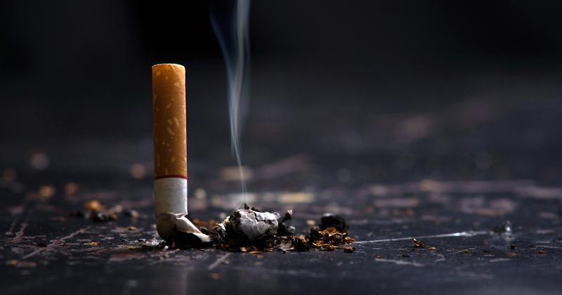 Smashed cigarette