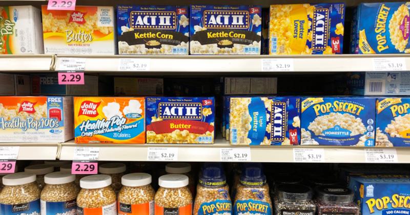popcorn on store shelves