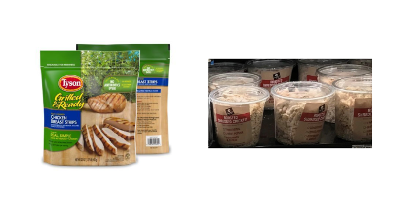 Recalled Tyson products