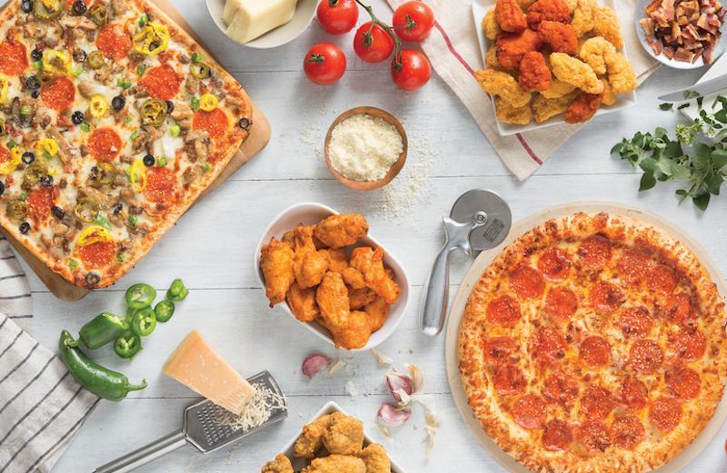Pizza cornucopia
