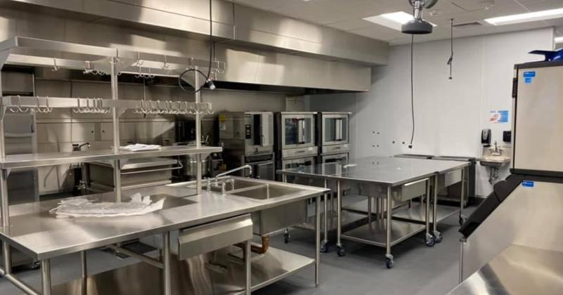 The new kitchen at Roper Mountain Science Center.
