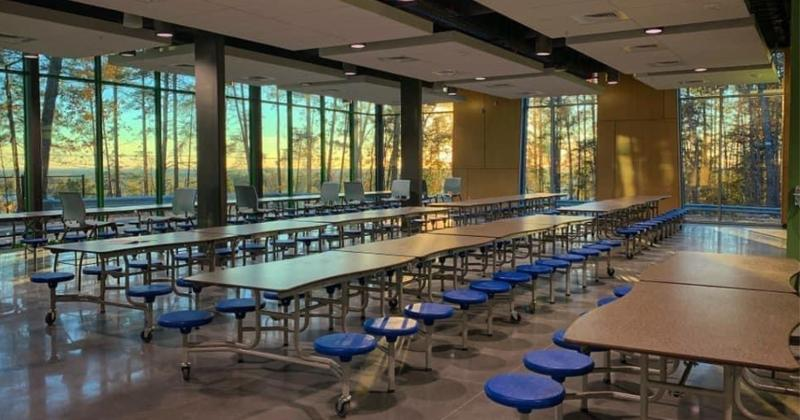 The new cafeteria at Roper Mountain Science Center.