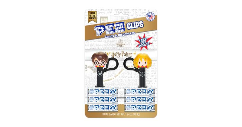 Novelty/Licensed: Harry Potter Back Pack Clips with Mystery Flavor Pez Candy