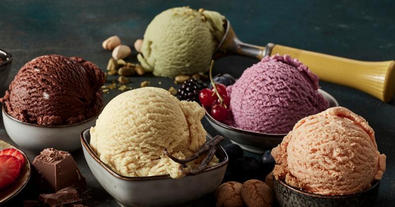 bowls of ice cream