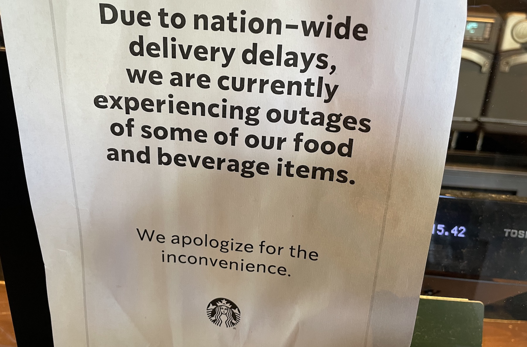 Taco Bell and Starbucks warn about shortages