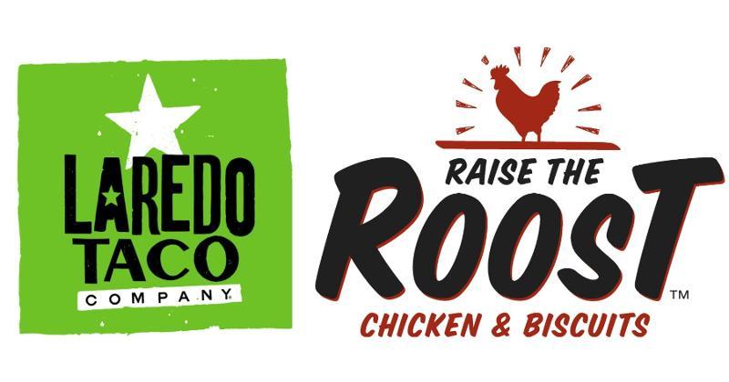 Laredo Taco Company, Raise the Roost logos