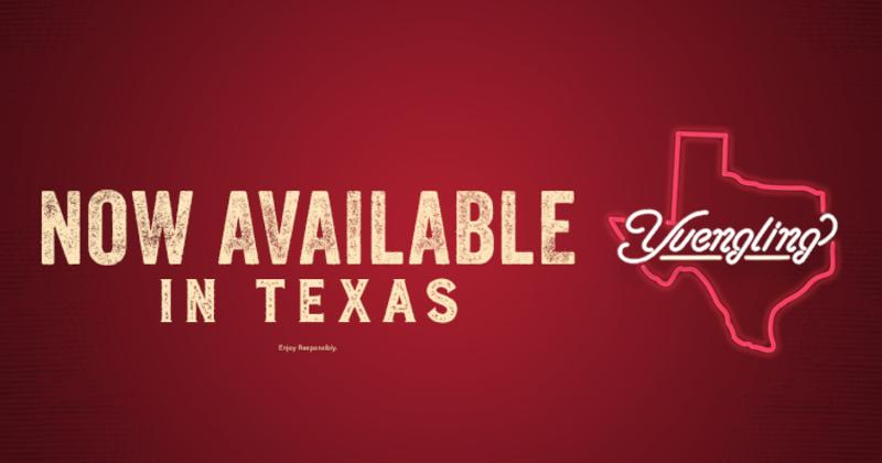 Yuengling now sold in Texas