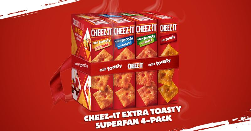 Cheez-It Extra Toasty Superfan Four-Pack