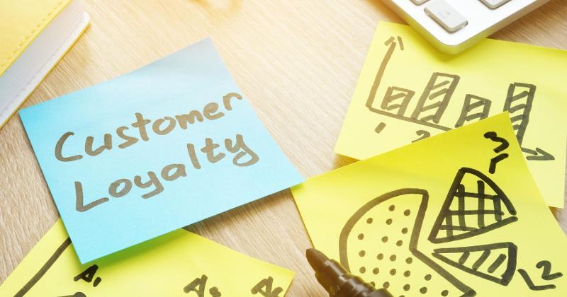 Customer loyalty post-its